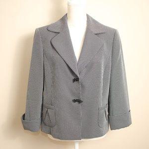 Tahari Arthur S. Levine Black/White Blazer Size 12